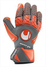 Uhlsport Torwarthandschuhe Aerored Absolutgrip Reflex dunkelgrau/rot