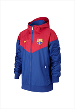 Nike FC Barcelona Kinder Fanjacke Authentic Windrunner blau/rot