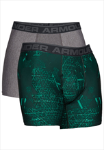 Under Armour Boxershort 2er Pack grau/grün