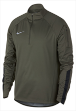 Nike Trainingsoberteil Shield Squad Drill Top dunkelolivegrün/schwarz