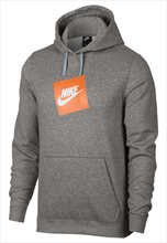 Nike Kapuzenpullover Sportswear Fleece Hoody grau/orange