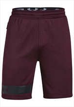 Under Armour Short Terry MK-1 dunkelrot/schwarz