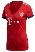Adidas FC Bayern München thuisshirt 2018/19 dames rood/wit