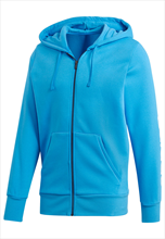 adidas Kapuzenjacke Essentials Linear Full-Zip Hoodie Fleece blau/weiß