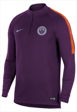 Nike Manchester City trainingstrui Squad Drill Top donkerpaars/oranje