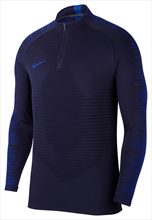 Nike Trainings Top VaporKnit Strike Drill Top dunkelblau/blau