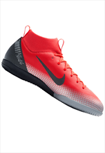 Nike Kinder Hallenschuh Mercurial SuperflyX VI JR Academy GS CR7 IC rot/schwarz