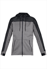 Under Armour jas met capuchon Unstoppable Cold Gear Swacket grijs/zwart