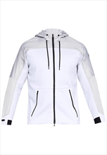 Under Armour jas met capuchon Unstoppable Cold Gear Swacket wit/zwart