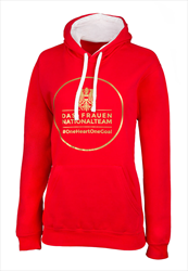 ÖFB Damen Kapuzenpullover Classic Das Frauen-Nationalteam rot/gold