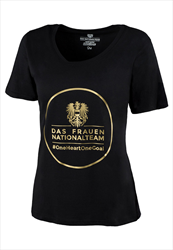 ÖFB Damen Shirt Classic Das Frauen-Nationalteam schwarz/gold