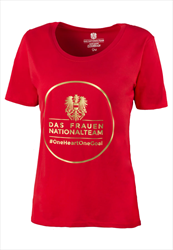 ÖFB Damen Shirt Classic Das Frauen-Nationalteam rot/gold