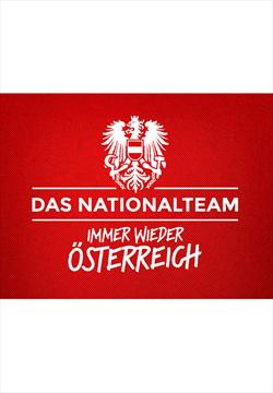 ÖFB Herren Fanshirt Retro rot/weiß mit Schaub Flock