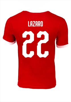 ÖFB Herren Fanshirt Retro rot/weiß mit Lazaro Flock