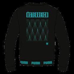 Puma Österreich Fanpullover FtblCulture Sweater schwarz/mint