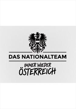 ÖFB Herren Fanshirt Retro weiß/schwarz mit Alaba Flock