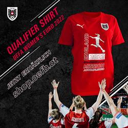 Puma Unisex Österreich Qualifier Shirt UEFA Women´s EURO 2022 rot/weiß