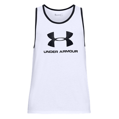 Under Armour Tank Top Sportstyle Logo weiß/schwarz