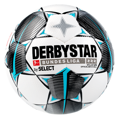 Derbystar Fußball Bundesliga Brillant APS Größe 5 weiß/hellblau