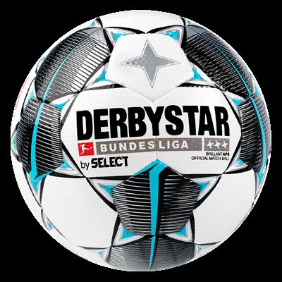 Derbystar voetbal Bundesliga Brillant APS maat 5 wit/lichtblauw