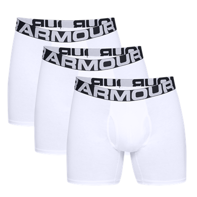 Under Armour Boxershort Charged Cotton 3er Pack weiß/schwarz