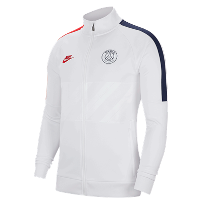 Nike Paris St. Germain fanjack I96 CL Jacket wit/donkerblauw