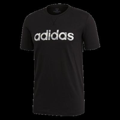 adidas vrijetijdsshirt Essential Camo Linear zwart/wit