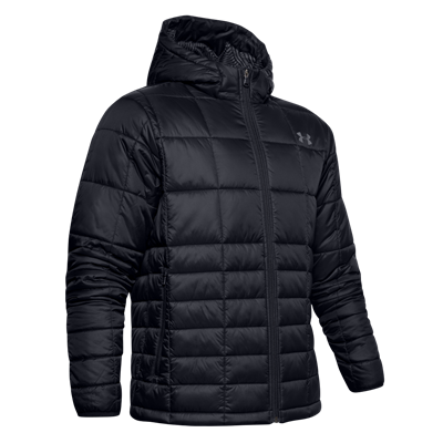 Under Armour capuchonjacke Thermo Insulated Hooded Jacket zwart/grijs