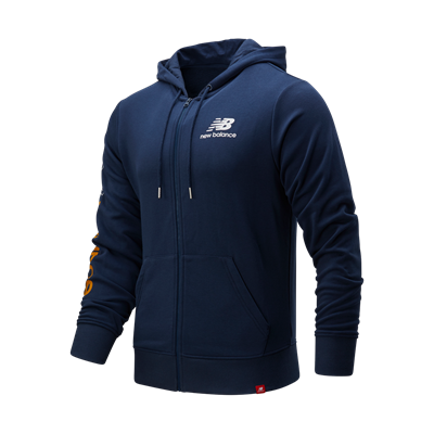 New Balance Kapuzenjacke Essentials Icon FZ Fleece Jacket dunkelblau