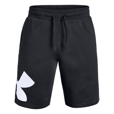 Under Armour short Rival Fleece Logo zwart/wit