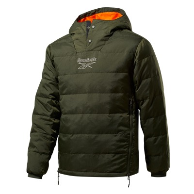 Reebok Steppjacke Outerwear Light Down Retro Jacket dunkelgrün