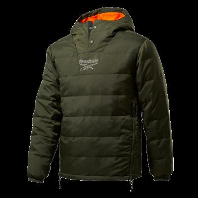 Reebok Steppjacke Outerwear Light Down Retro Jacket dunkelgrün