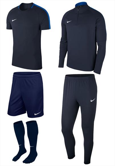 Nike Trainingsset Academy 18 5-teilig dunkelblau/blau