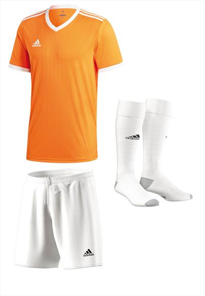 adidas Dressenset Tabela 18 orange/weiß