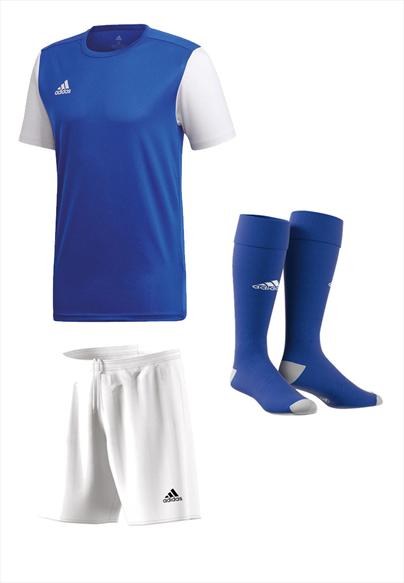adidas Dressenset Estro 19 blau/weiß