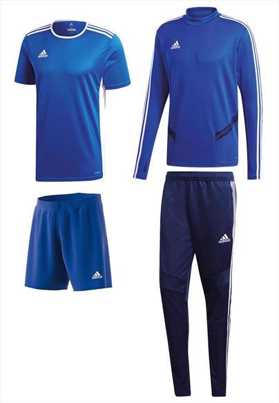 adidas Trainingsset Tiro 19 4-teilig blau/dunkelblau