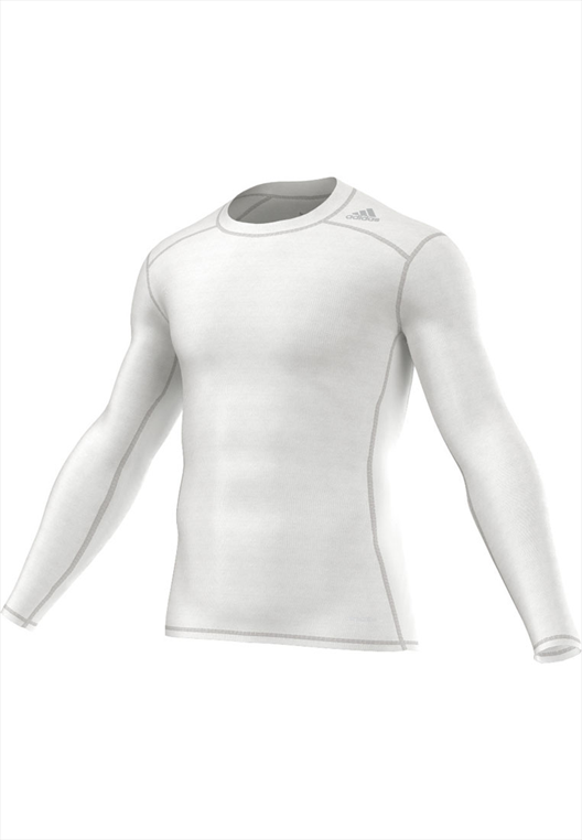 adidas Funktionsshirt Techfit Base Long Sleeve Tee weiß