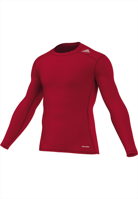 adidas Funktionsshirt Techfit Base Long Sleeve Tee rot