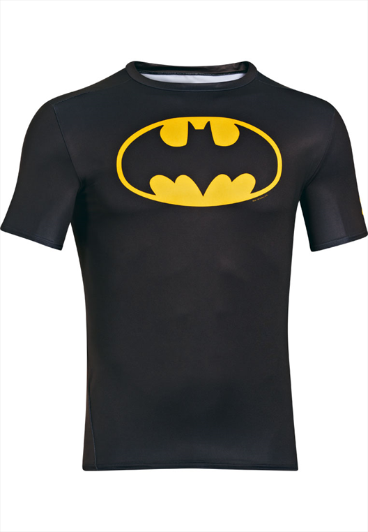 Under Armour Kompression Shirt Alter Ego Comp Batman schwarz/gelb