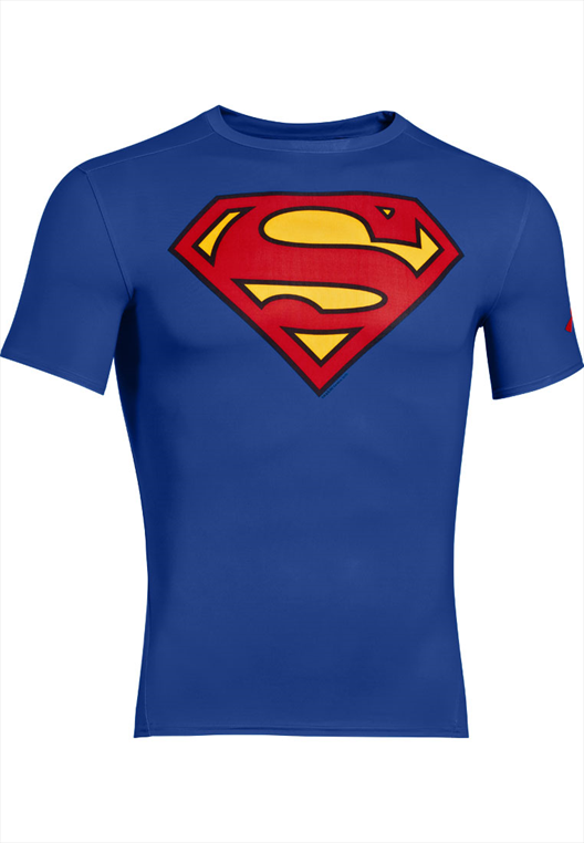 Under Armour Kompression Shirt Alter Ego Comp Superman blau/rot