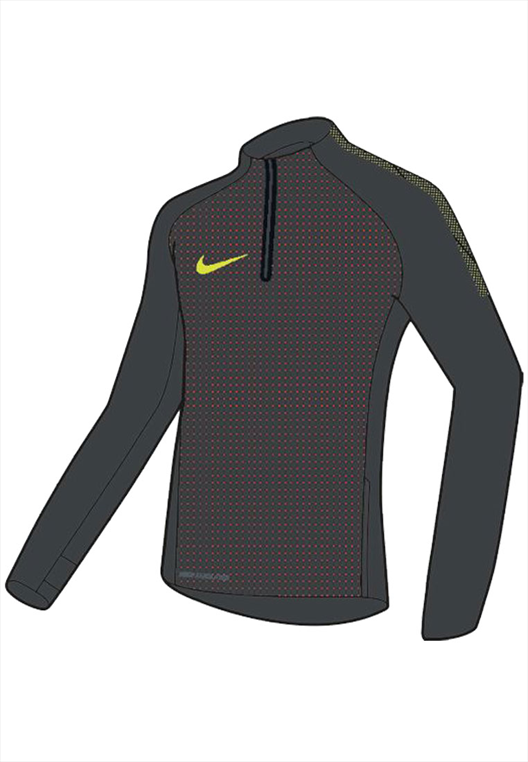 Nike Trainings Top Strike Aerolayer Repel Dril Top grau/gelb