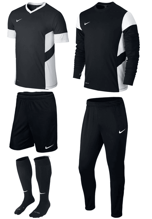 Nike Trainingsset Academy 5-teilig schwarz/weiß