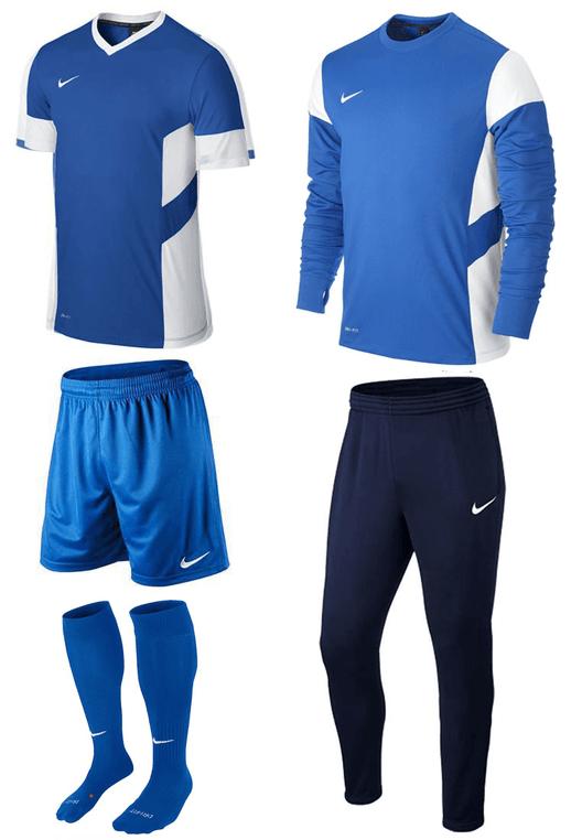 Nike Trainingsset Academy 5-teilig blau/weiß