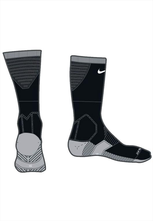 Nike Socken Team Matchfit Cushion Crew Sock schwarz/weiß