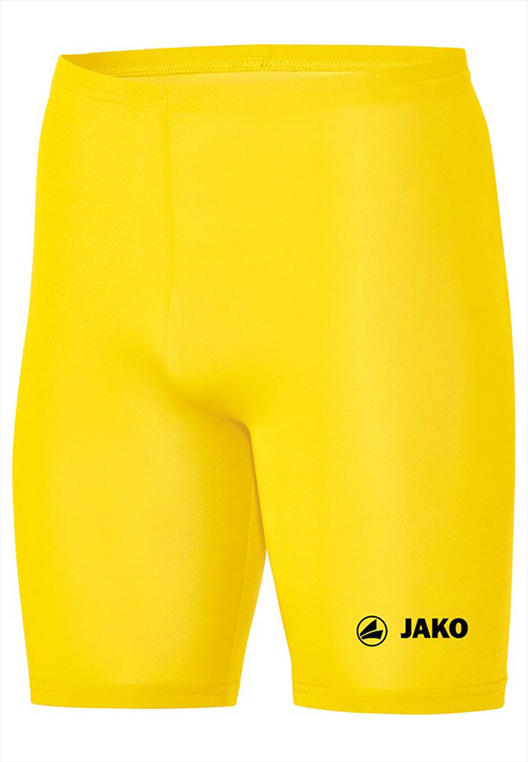 Jako Funktionsshort Tight Basic 2.0 gelb/schwarz