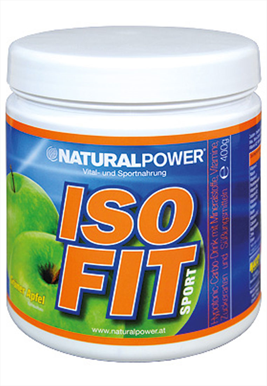 Natural Power Iso Fit Sport Elektrolyt Getränk 400g