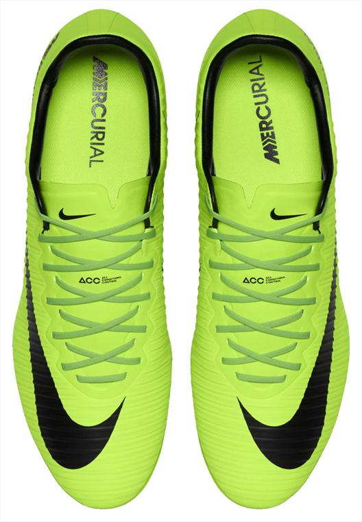Nike Fußballschuh Mercurial Vapor XI FG grün fluo/schwarz