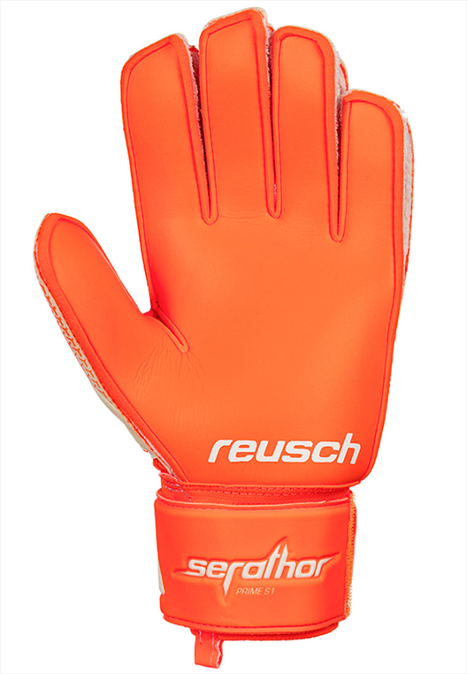 Reusch Torwarthandschuhe Serathor Prime Super Soft S1 orange fluo/weiß