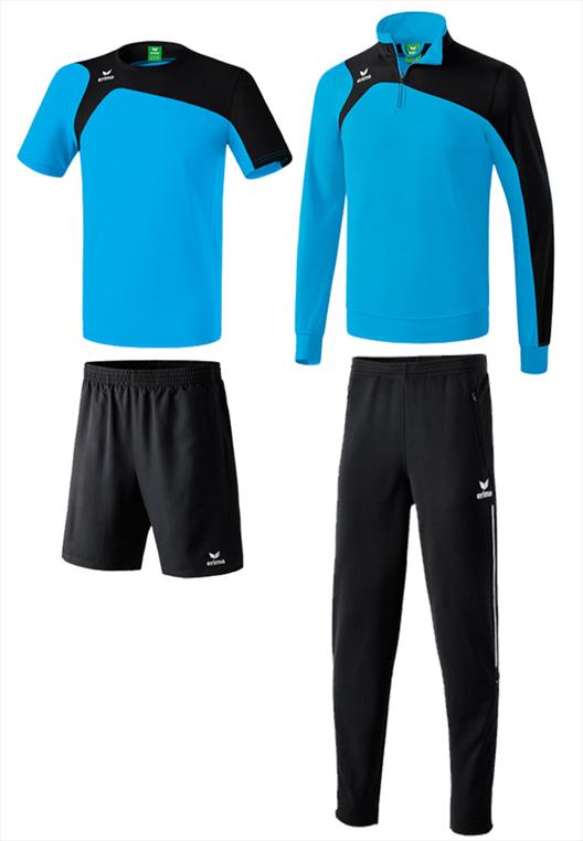 Erima Trainingsset 4-teilig Club 1900 2.0 hellblau/schwarz