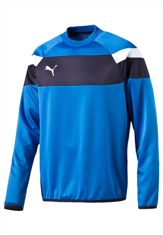 Puma Trainingspullover Spirit II Training Sweat blau/weiß